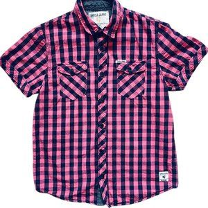 Garcia Red Plaid Button Down Shirt